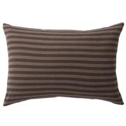 棉天竺枕套 50×70cm用 / 混棕色条纹