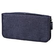 聚酯纤维护照盒 约23.5×12.5×厚度2.5cm / 混藏青色