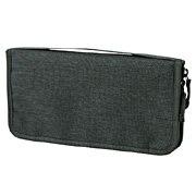 聚酯纤维护照盒 约23.5×12.5×厚度2.5cm / 混深灰色