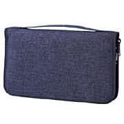 聚酯纤维护照盒 附带透明袋 约23×14×3cm / 混藏青色