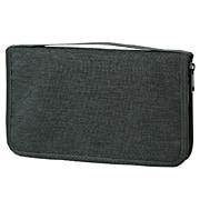 聚酯纤维护照盒 附带透明袋 约23×14×3cm / 混深灰色
