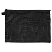 滑翔伞梭织布双拉链包 大 约19×27cm / 黑色
