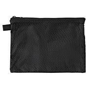 滑翔伞梭织布双拉链包 中 约13.5×19cm / 黑色