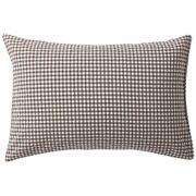 水洗棉枕套 50×70cm用 / 棕色格纹