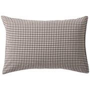 水洗棉枕套 43×100cm用 / 棕色格纹