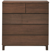 胡桃木收纳柜4层宽型 / 长80×宽40×高83cm