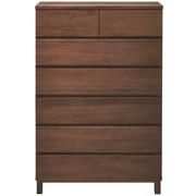 胡桃木收纳柜6层宽型 / 长80×宽40×高119.5cm