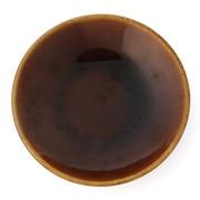 益子焼香皿 飴釉 85mm