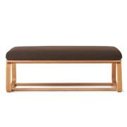 棉平织客厅餐厅两用长凳/1用套/深棕色