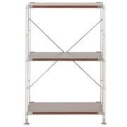 不锈钢组合架 / 胡桃木搁板套装 / 小 / 宽58×深41×高83cm