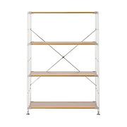 不锈钢组合架/橡木搁板套装/宽型/中 长86×宽41×高120cm