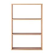 组合柜/宽型/3段 / 白橡木 / 宽81.5×深28.5×高121cm