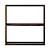 组合式木架 / 宽型 / 2层 / 胡桃木 / 宽81.5×深28.5×高81.5