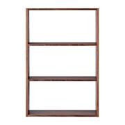 组合式木架 / 宽型 / 3层 / 胡桃木 / 宽81.5×深28.5×高121cm