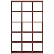 组合式木架套装 / 5层×3列 / 胡桃木 / 宽122×深28.5×高200cm
