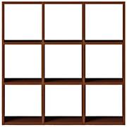 组合式木架套装 / 3层×3列 / 胡桃木 / 宽122×深28.5×高121cm