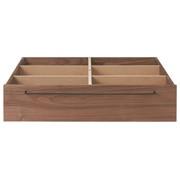 床框下收纳/大/胡桃木 长80×宽90.5×高19cm