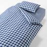 被套套装 床用/蓝色 格纹 被套 Q/床罩Q/枕套 2张  50×70cm用