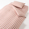 被套套装 床用/浅粉色 格纹 被套 K/床罩K/枕套 2张  50×70cm用