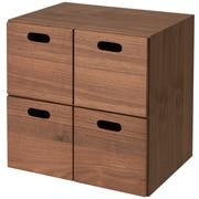 组合式收纳柜 / 抽屉4个 / 胡桃木 / 长37×宽28×高37cm
