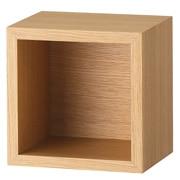 壁挂式家具 箱子 / 1方格 / 橡木 / 长19×宽15.5×高19cm