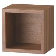 壁挂式家具/箱子/1方格/胡桃木
