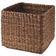 可重叠蕉麻皮制 方形篮 / 特大 / 约长35×宽35×高32cm