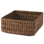 可重叠蕉麻皮制 方形篮 / 中 / 约长35×宽35×高16cm