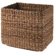 可重叠蕉麻皮制 长方形篮 / 特大 / 约长36×宽26×高32cm