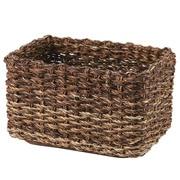 可重叠蕉麻皮制 长方形盒 / 约长26×宽18×高16cm