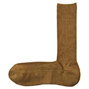 合脚直角袜秘鲁棉混珠地网眼袜