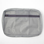 可水洗衣物袋 约26×40×6.5cm / 灰色