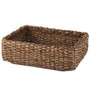 可重叠蕉麻皮制 长方形篮 / 小 / 约长36×宽26×高12cm