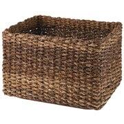可重叠蕉麻皮制 长方形篮 / 大 / 约长36×宽26×高24cm