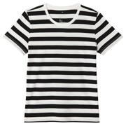 棉圆领短袖T恤