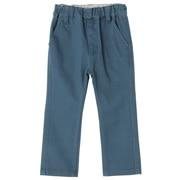 丝光斜纹弹力修身裤