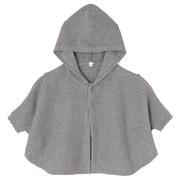 棉花纹编织带风帽斗篷
