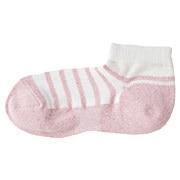 合脚直角条纹袜