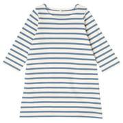 柔软粗棉线八分袖连衣裙