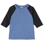 日常儿童拼接色七分袖T恤