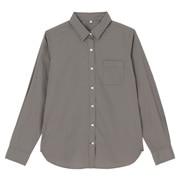 棉水洗平纹衬衫