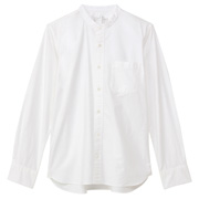 水洗棉牛津立领衬衫