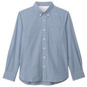 牛津棉双重格子纽扣领衬衫