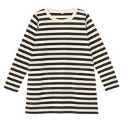 日常儿童 棉条纹长袖束腰长上衣(孩童)