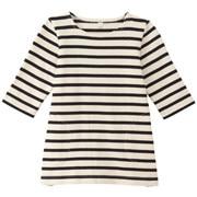 柔软粗棉线八分袖束腰长上衣(婴儿)