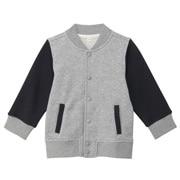 柔软毛圈棉混运动夹克(婴儿)