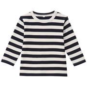 棉双面起毛双罗纹条纹长袖T恤(婴儿)
