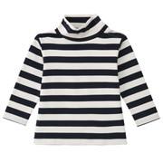 棉双面起毛双罗纹条纹高领长袖T恤(婴儿)
