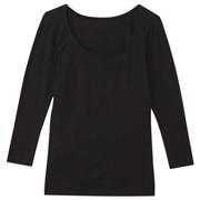 使用天然素材 保暖八分袖衫