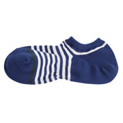 棉混合脚直角 条纹运动船袜(男士)